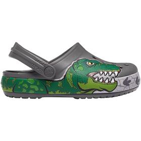 Crocs Crocs FL Dino Band Lights Sko Børn, slate grey